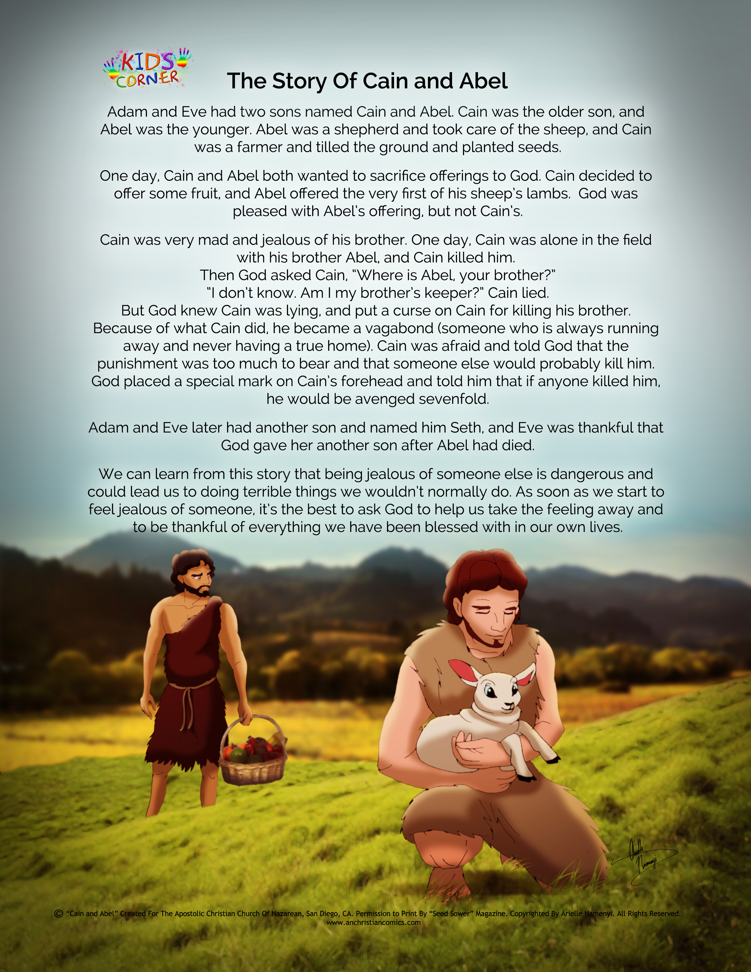 the story of cain and abel anchristiancomics