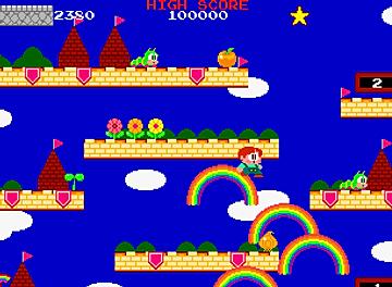 rainbow islands taito mame arcade retro game geeks bubble bobble pc