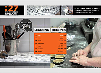 Cooking Com Template - Teach cooking classes or just want to share your favorite dinner recipes? We've got the perfect kitchen inspired web layout for you. Slate grays, chalky whites and bold pops of orange color inspire creative food design, with to-the-point ideas. Simply add lesson schedules and/or recipes.