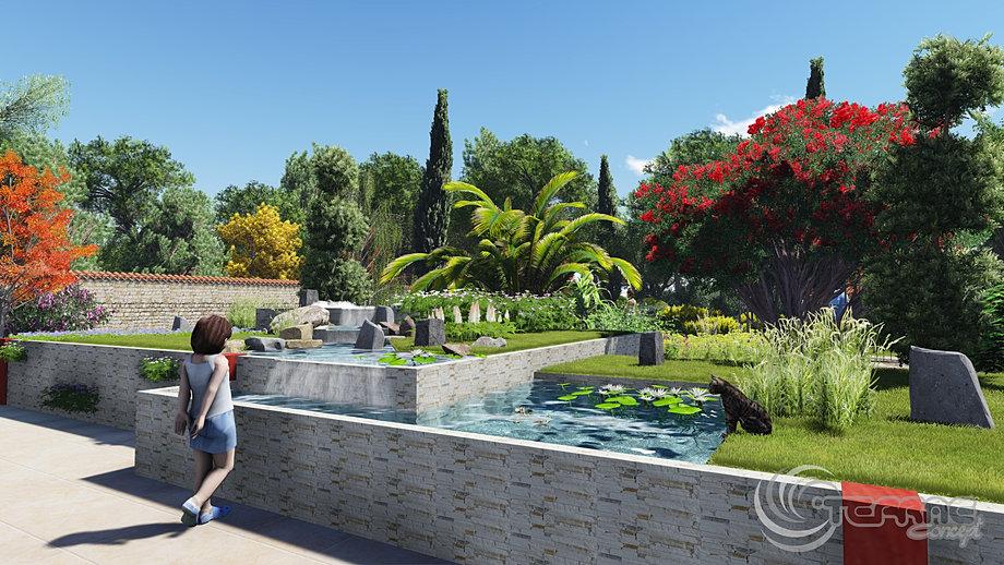 Plan de jardins 3d piscine et jardin paysagiste for Plan 3d jardin