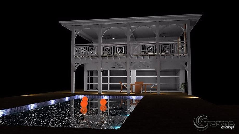Clairage ext rieur led piscine et jardin cristophe taurel for Eclairage parking exterieur