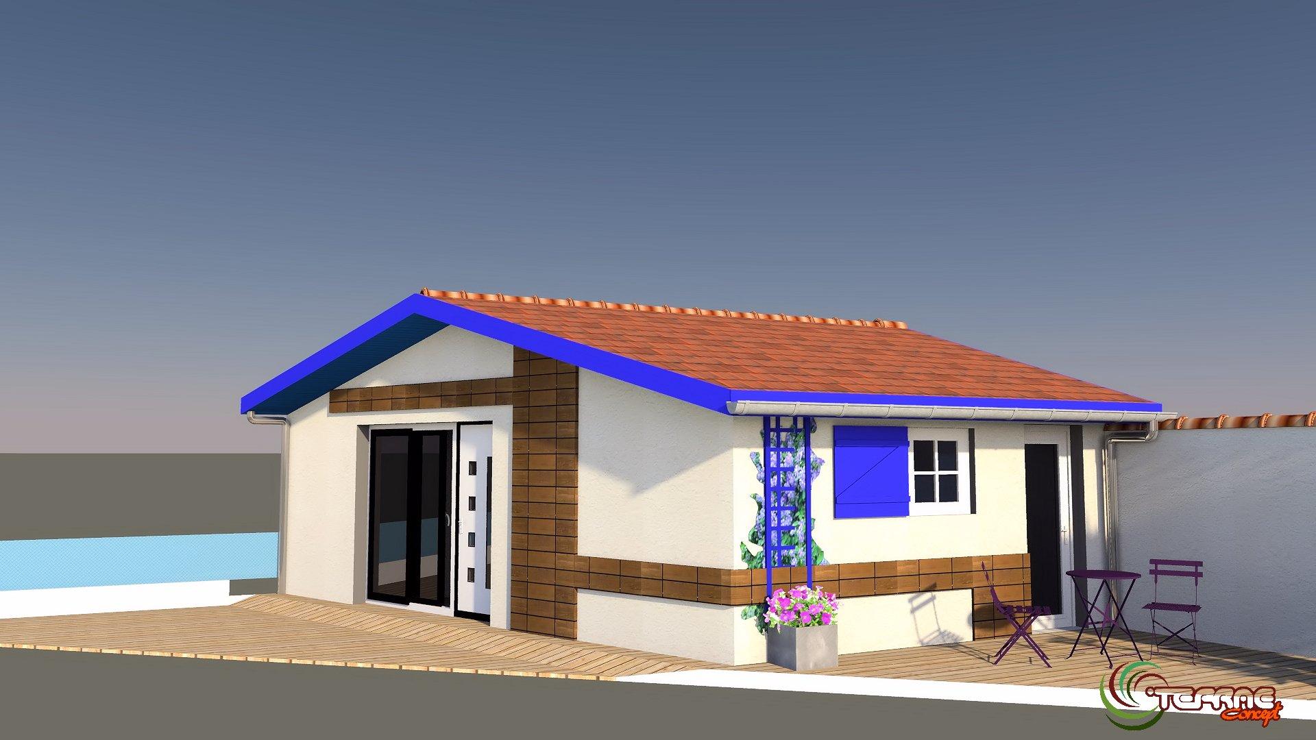 Image maison 3d permis de construire plan maison 3d agence for Construire maison 3d