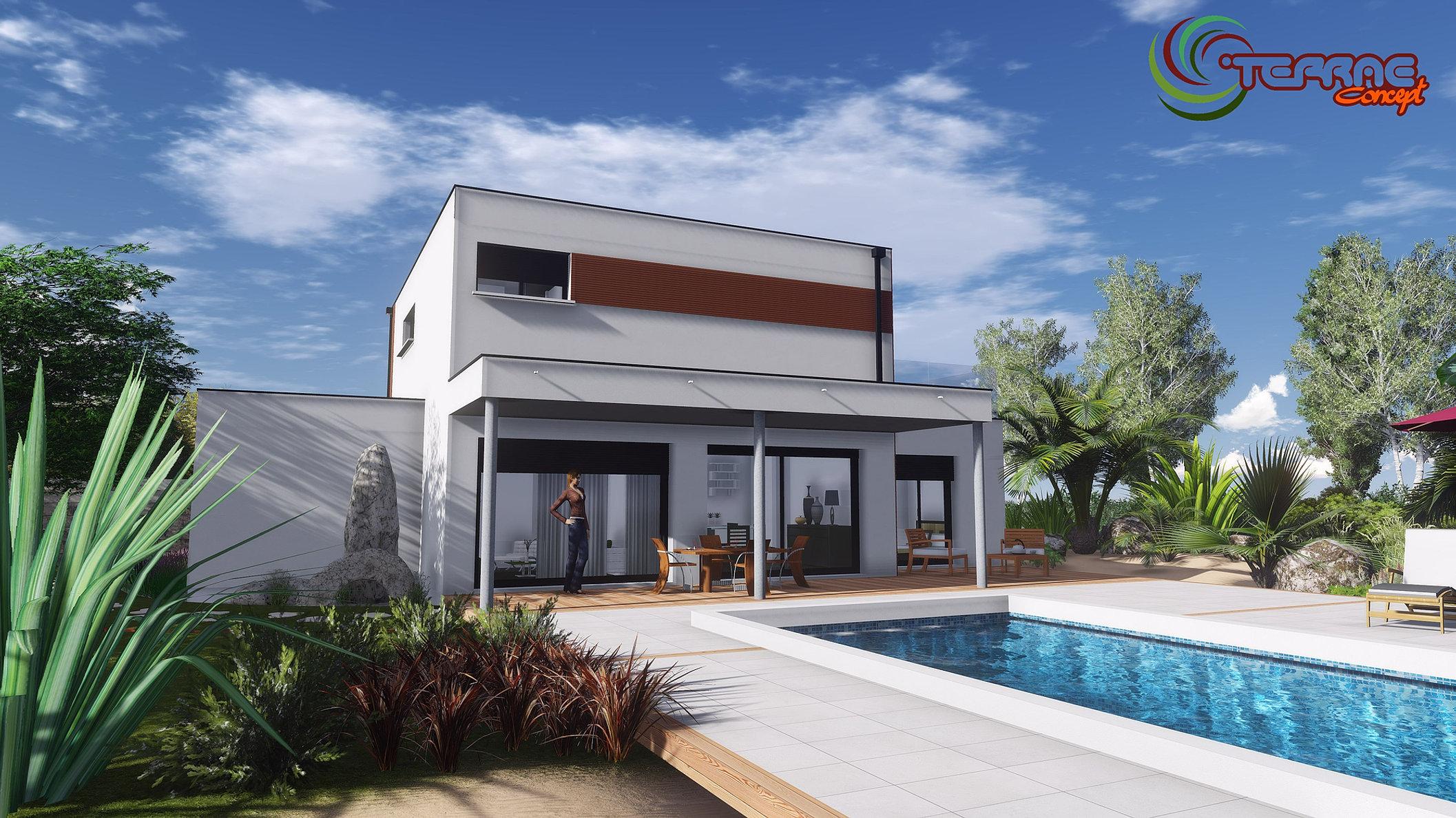 piscinemaisontoitterrassejpg - Comment Dessiner Une Villa