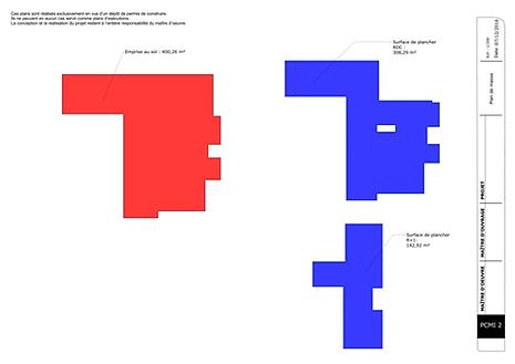 exemple de plan permis de construire pour une extension. Black Bedroom Furniture Sets. Home Design Ideas