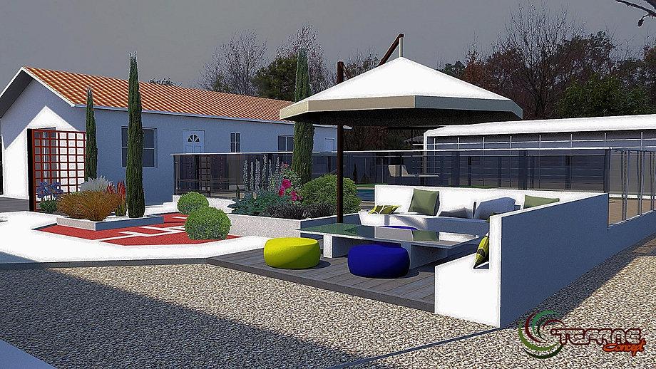 plan de jardins 3d piscine et jardin paysagiste. Black Bedroom Furniture Sets. Home Design Ideas