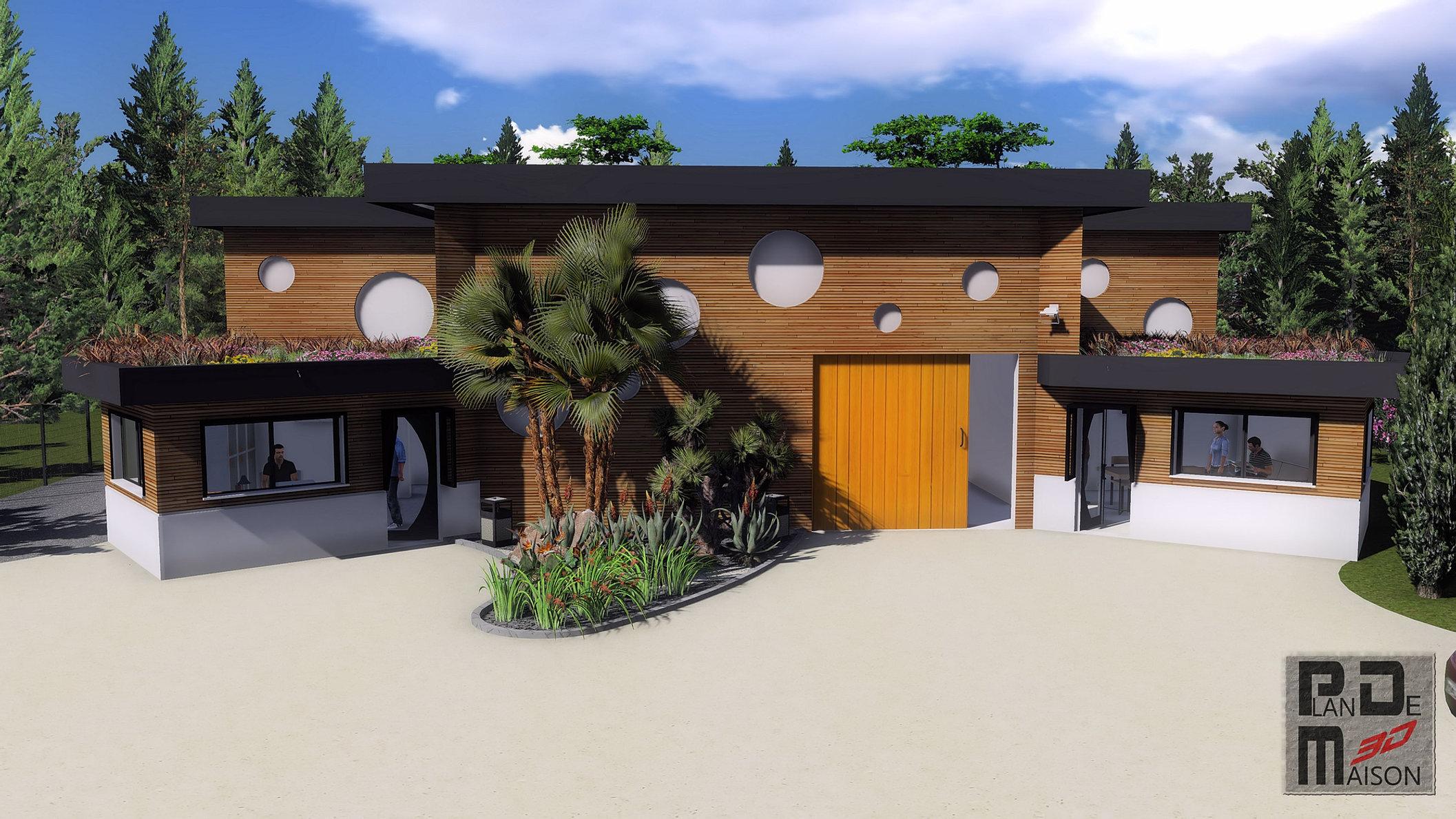 Image maison 3d permis de construire plan maison 3d agence for Construire villa