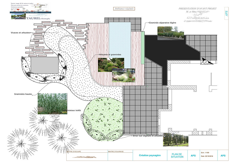 Plan de jardins 3d piscine et jardin architecture du paysage for Plan contemporain