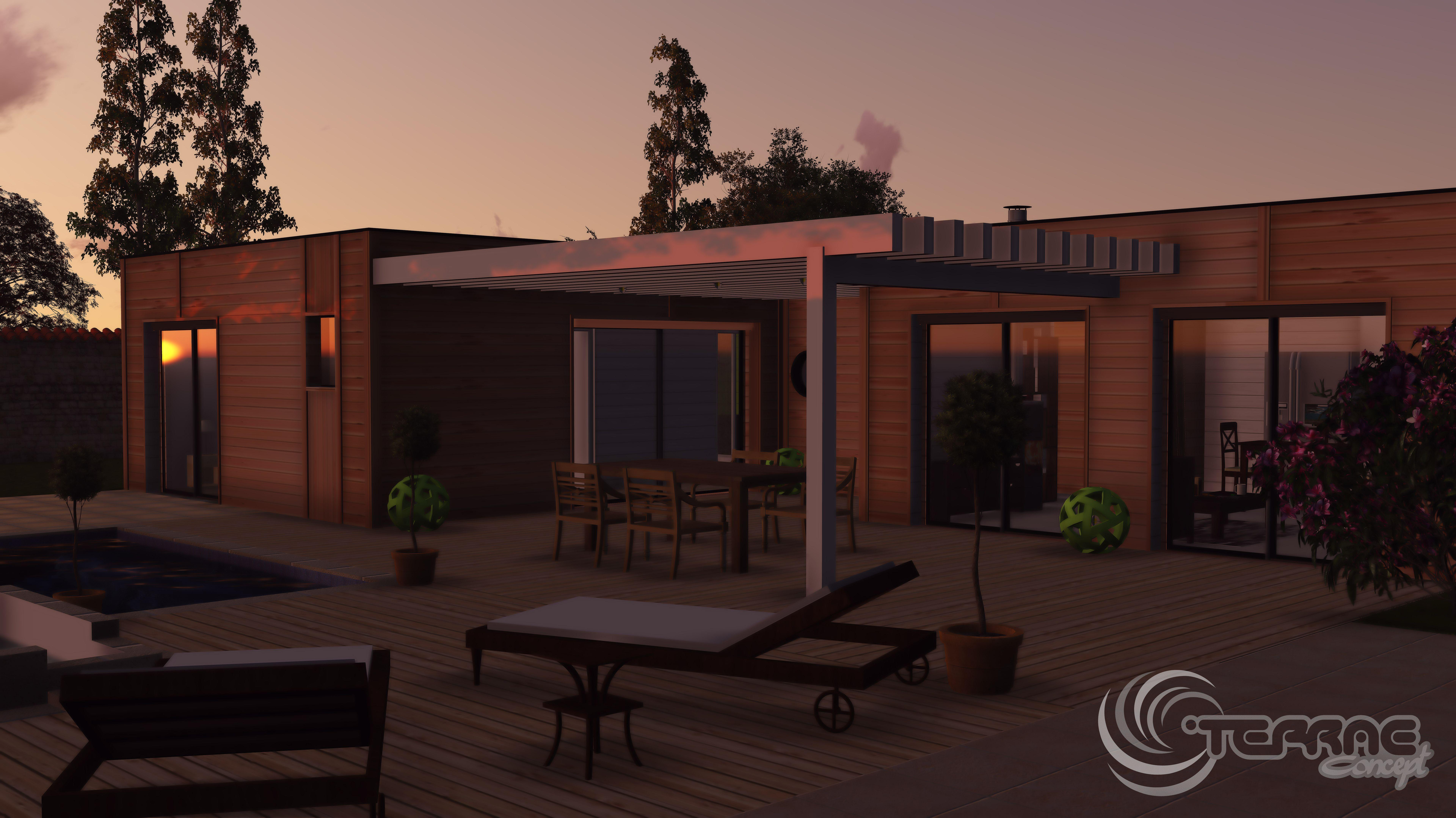 Terrasse tropezienne permis de construire image maison 3d permis de construire plan maison 3d - Permis de construire terrasse ...