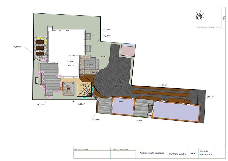 Plan de jardins 3D,piscine et jardin,architecture du paysage