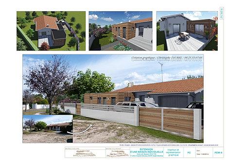 Exemple de plan permis de construire pour une extension for Construire maison 77