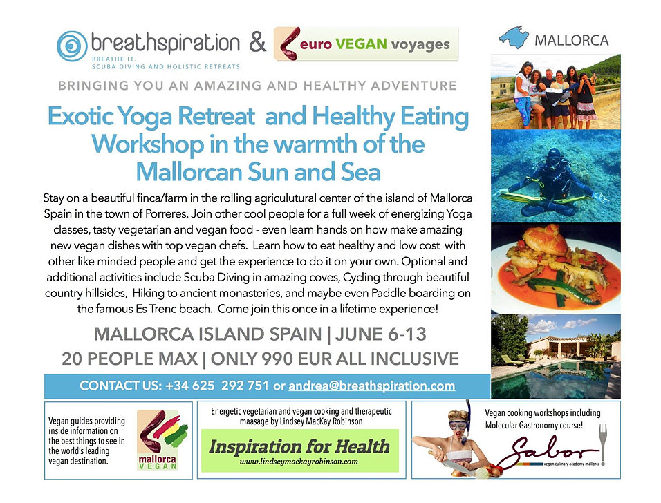 Breathspiration exotic yoga and healthy eating retreat for Yoga and wine retreat