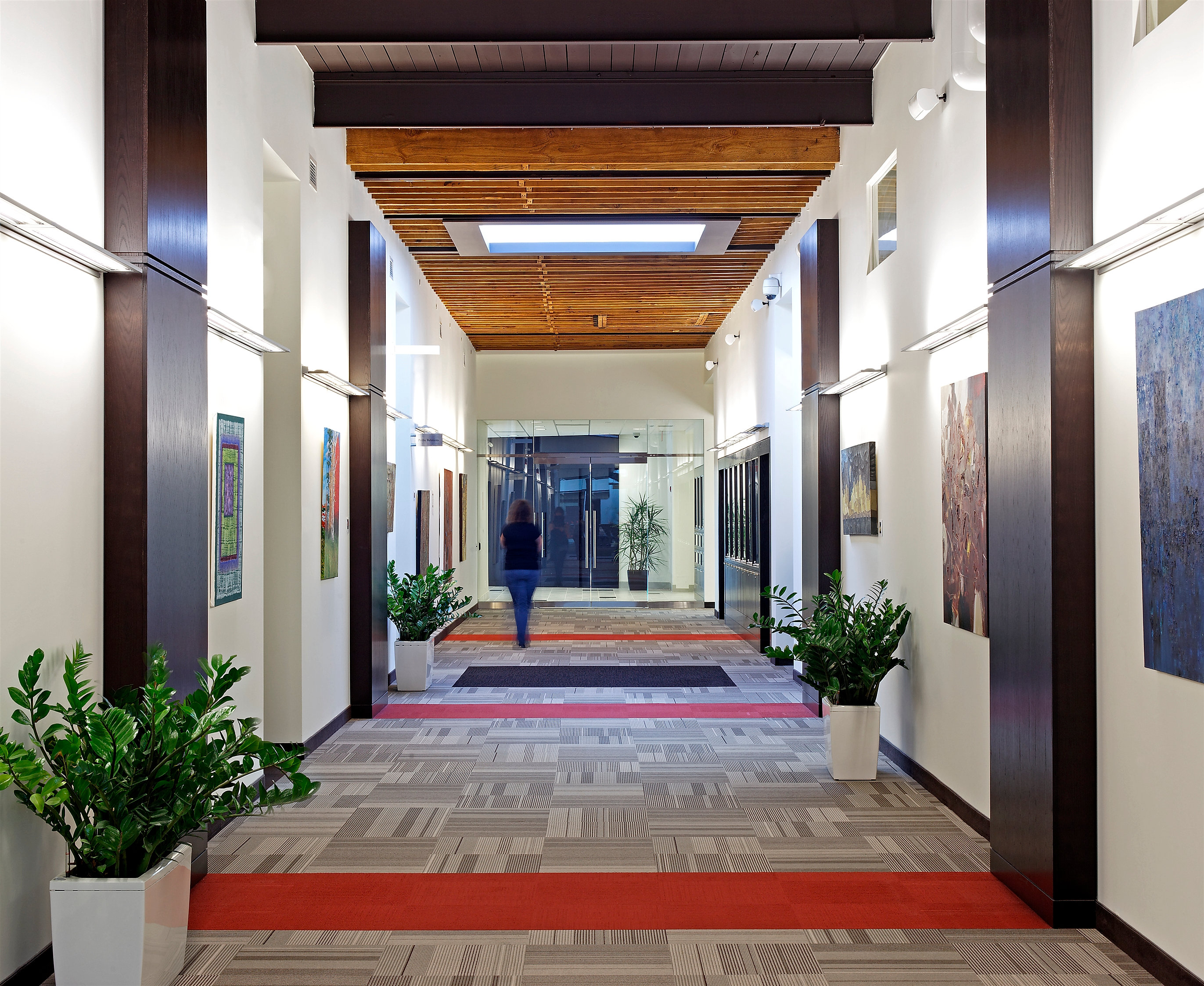 Csa office hallway for Office hallway design