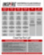 Inspire Martial Arts Class Schedule