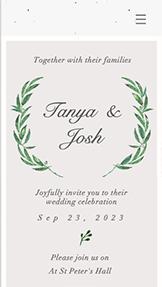 Şık Düğün Davetiyesi
