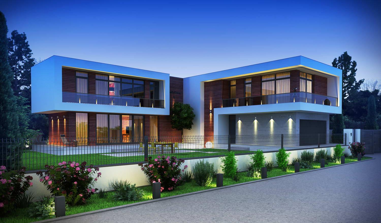 Проекты современных домов с плоской крышей фото