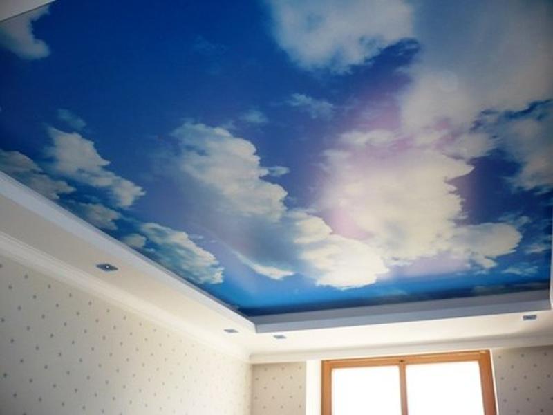 Натяжные потолки небо фото цены