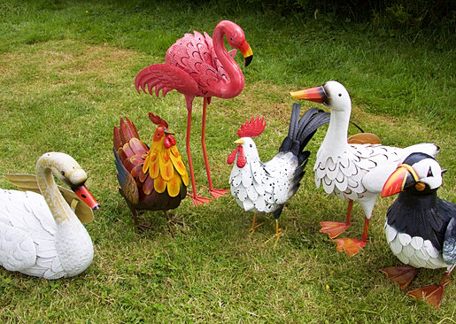 Metal Chicken Garden Ornaments