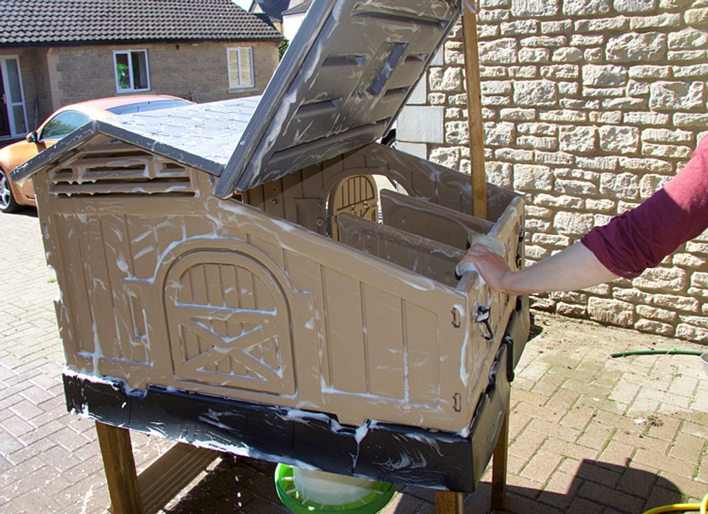 The clever coop company for Maintenance free chicken coop