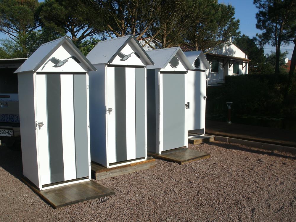 Cabines de plage mobicamp for Plan cabine de plage en bois