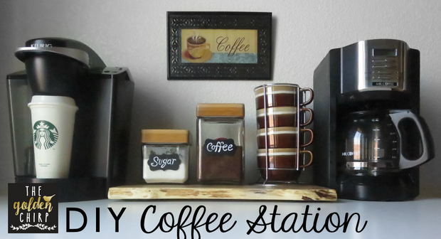 for every coffee lover out there who cant function without their daily intake of caffeine i have the perfect set up for you on the far left is my keurig unique diy coffee station