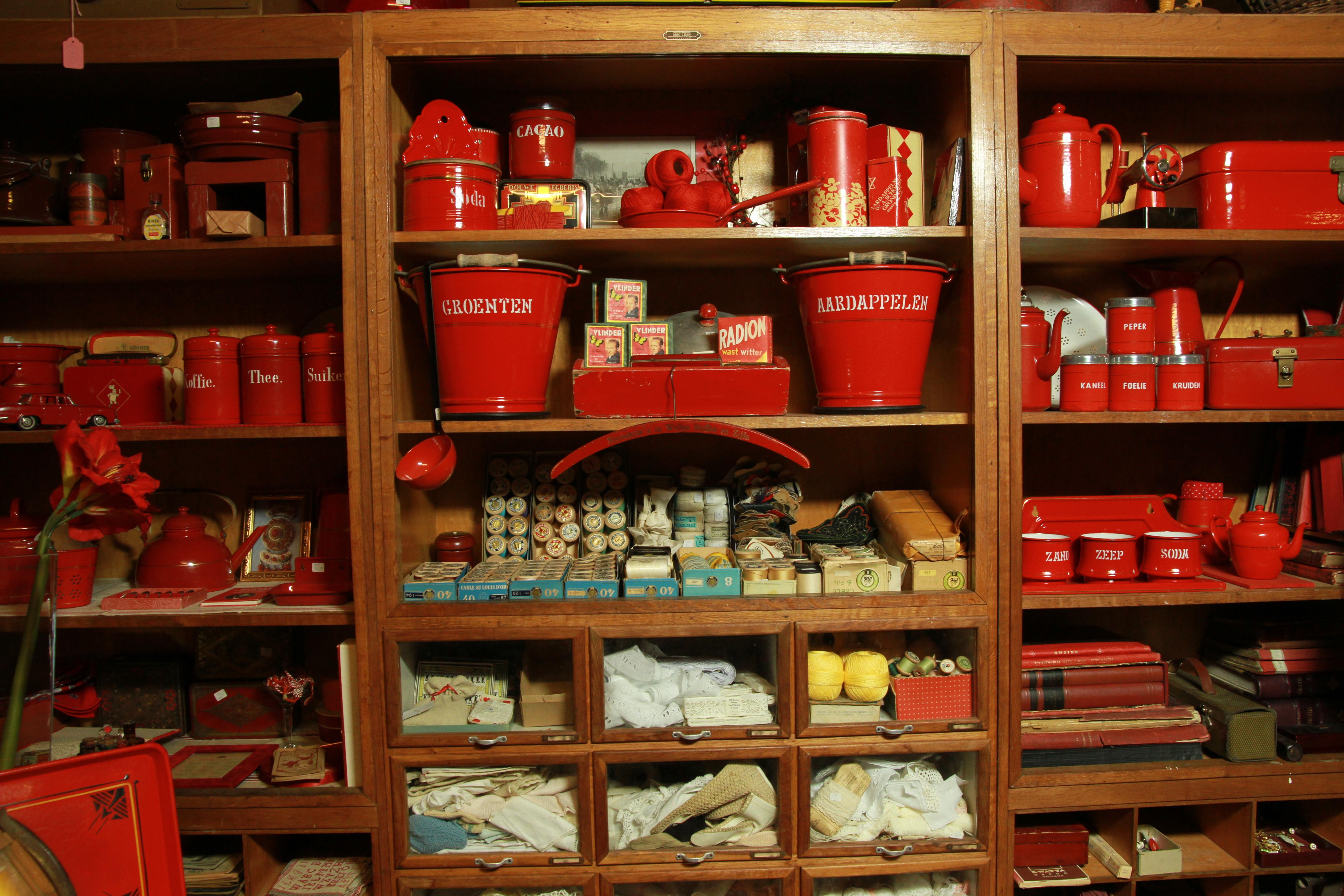 Retro Keukenspullen : Koeiesteyn Antiek en Vintage Winkelkast