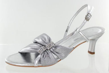 Silver Short Heels | FS-2091-1 | L&ampM Bling Fashion Jewelry and