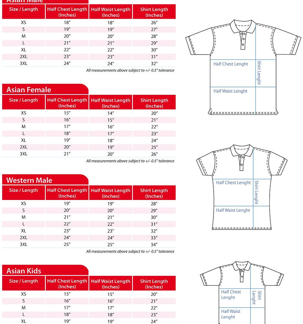 Shirt design measurements - T Shirt Measurements