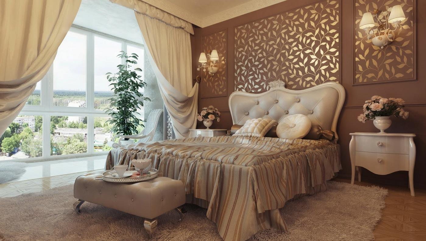 Дизайн и интерьер спальни в классическом стиле