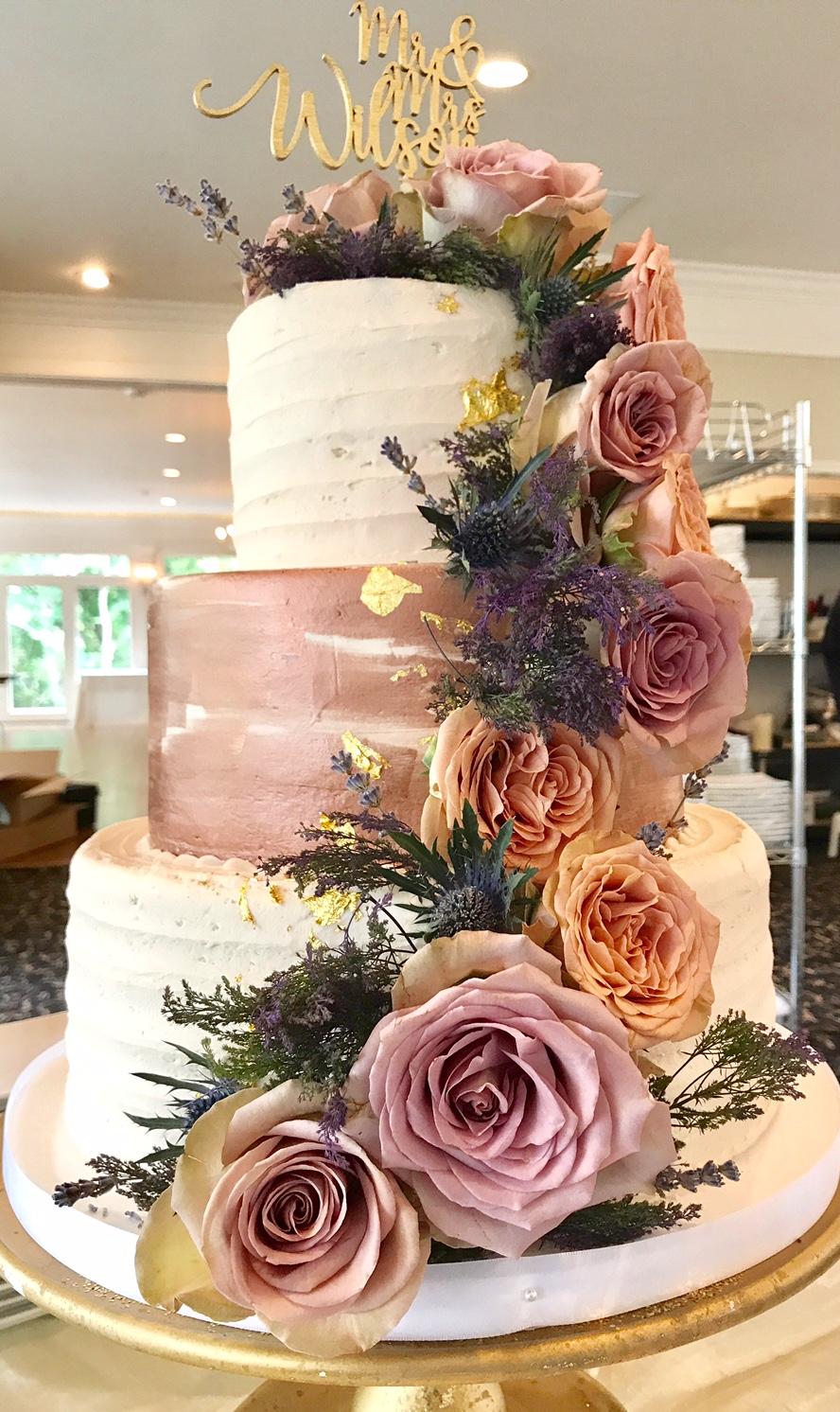 Award-Winning Marble Birthday Cake