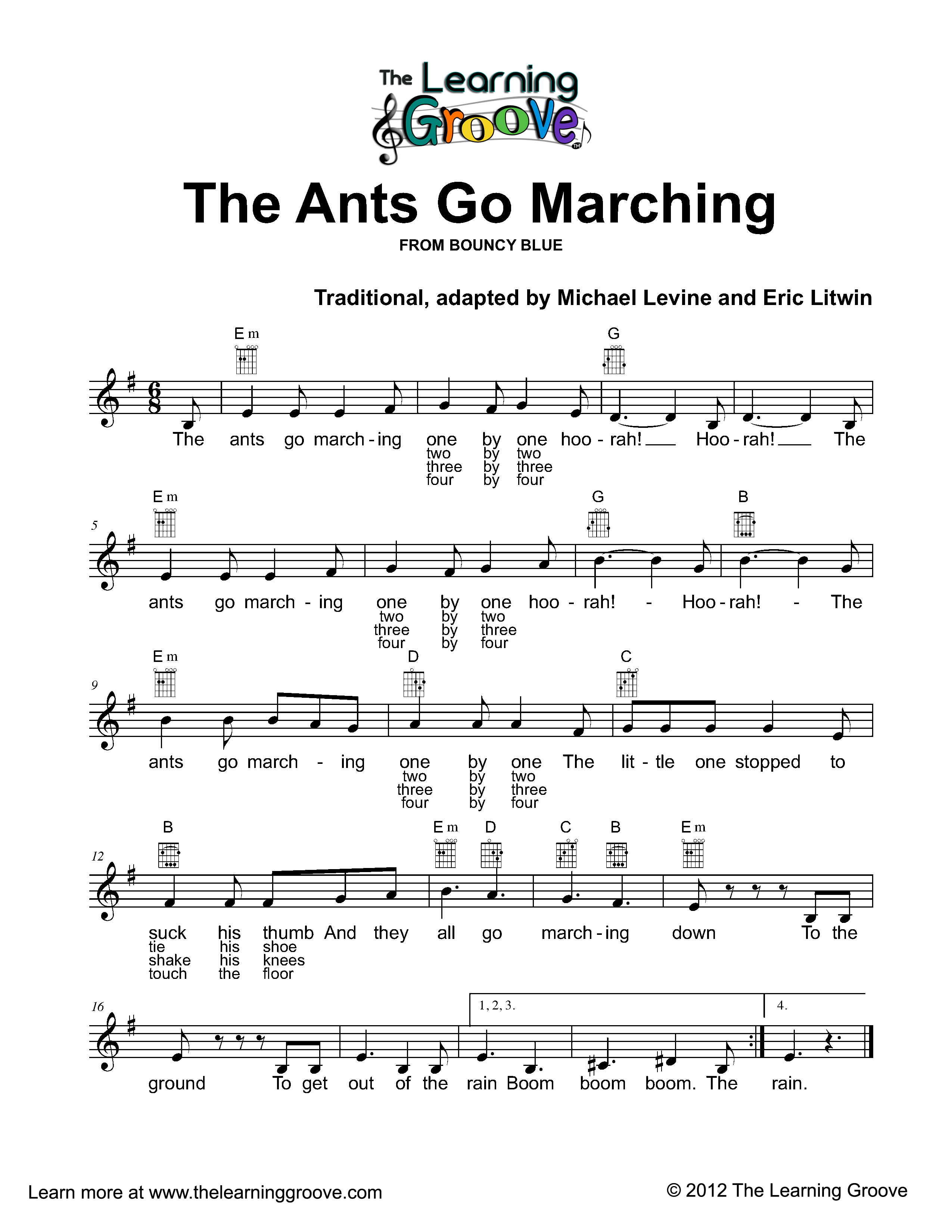 The pictures for --> Ants Go Marching Coloring Page