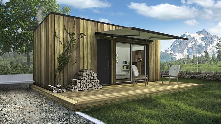 Studio de jardin en maison container ikub concept solo for Maison 6 container