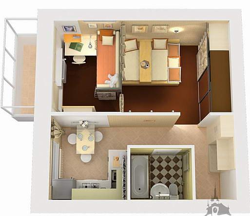 Однокомнатные хрущевки квартиры дизайн