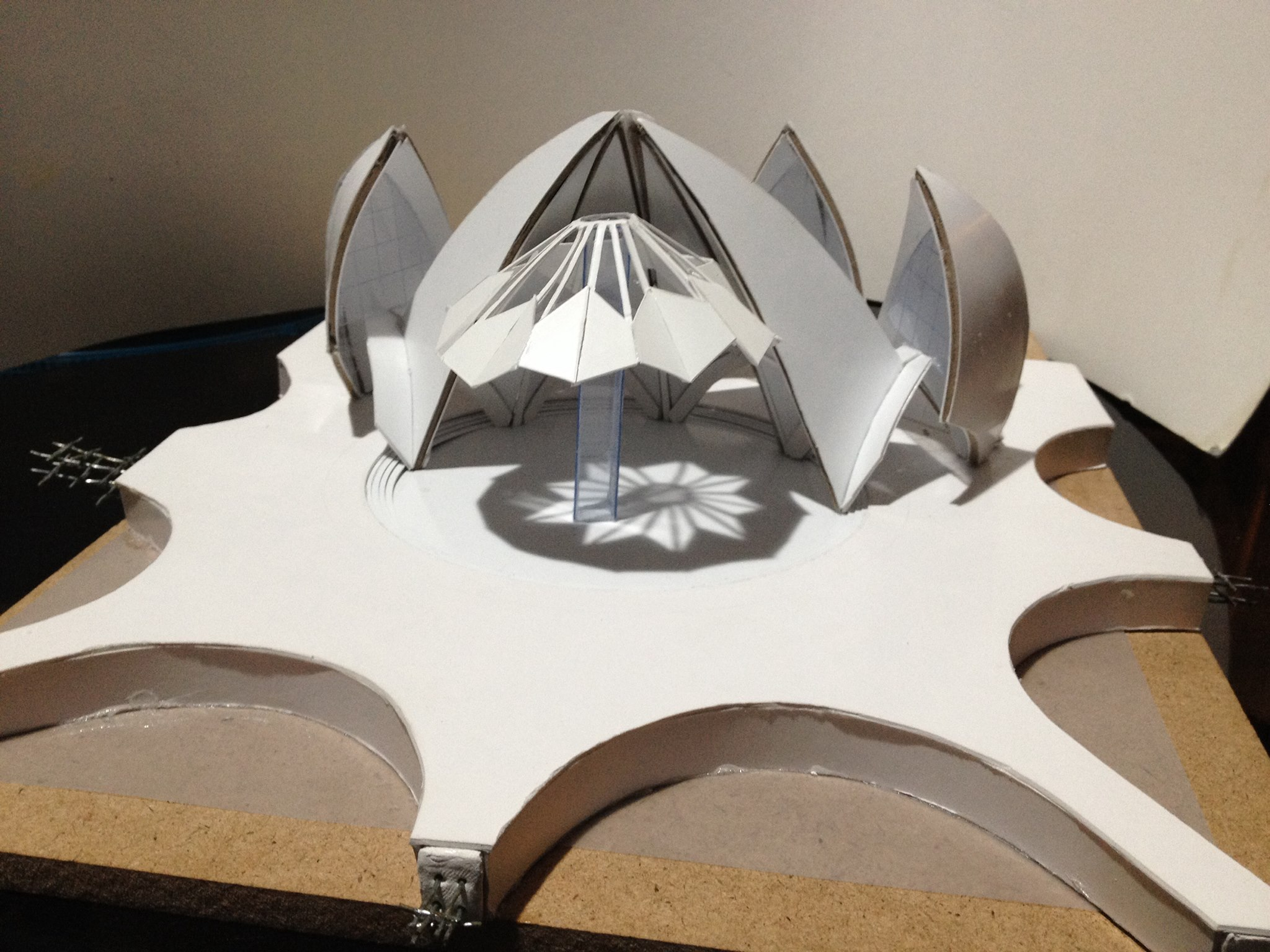 Rachelhonportfolio Sectional Model Of Lotus Temple