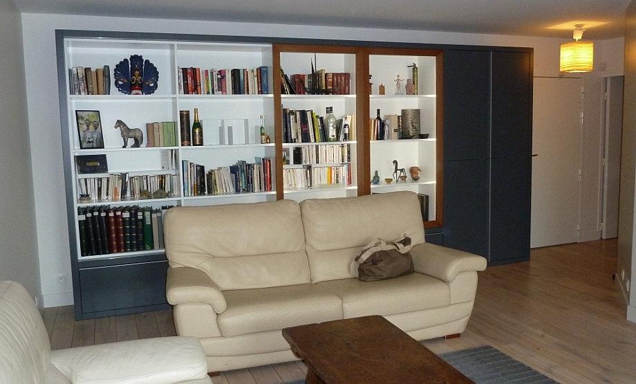 arc eb nisterie biblioth que sur mesure paris 75 78 92 95 27. Black Bedroom Furniture Sets. Home Design Ideas
