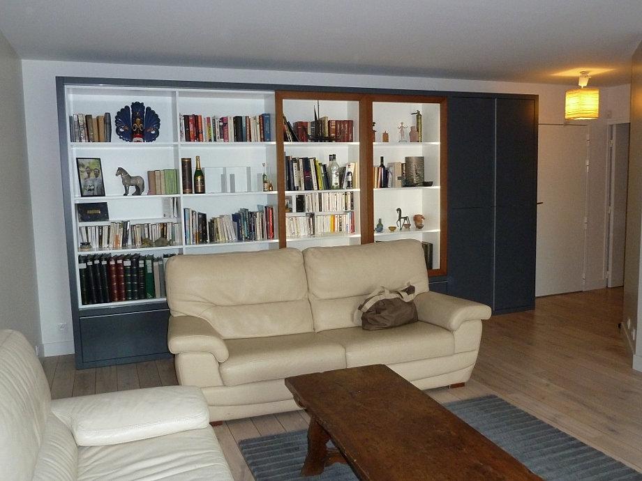 ARC Ebénisterie | Bibliothèque sur mesure | Paris, 75, 78, 92, 95, 27