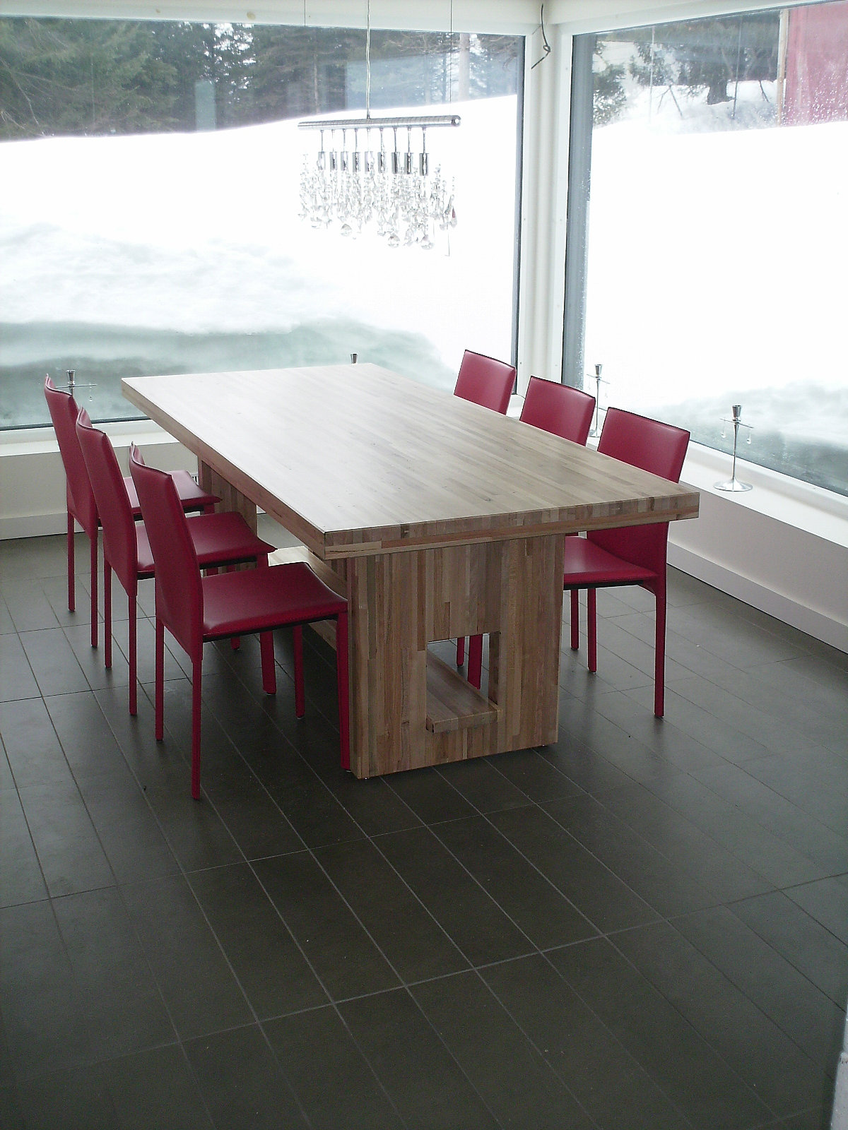 EPURE  Escaliers  Charpente Massive  Timberframe  GdP  Quebec  Table bo