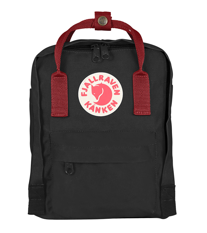 kanken ox red and black