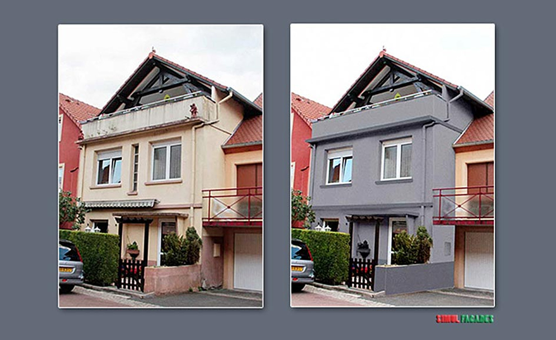Simulfacades for Couleur ravalement facade maison