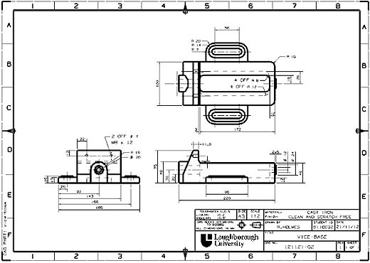 Ross Leeroy Holmes Portfolio | Engineering Drawing and Dimensioning