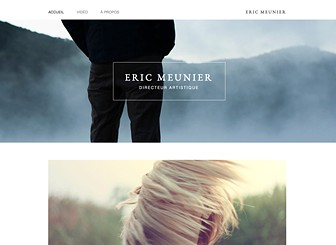 Portfolio Directeur Artistique Template - Put your work on display with this minimalistic template. Upload photos, videos, and blog posts, add pages for your bio and contact, and show the world your talents! Nothing can hold your creativity back - get started today! Tags: Art, minimalist, photography, creative