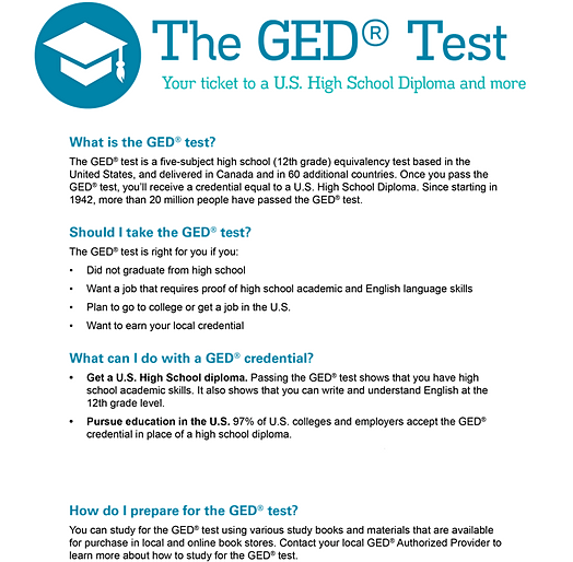 pass ged test essay The essay is a critical component of the general educational development or ged exam, since it accounts for 35 percent of the total language score on a grading scale of one to four, a two is required to pass the writing section candidates not attaining a two or higher on the essay must.