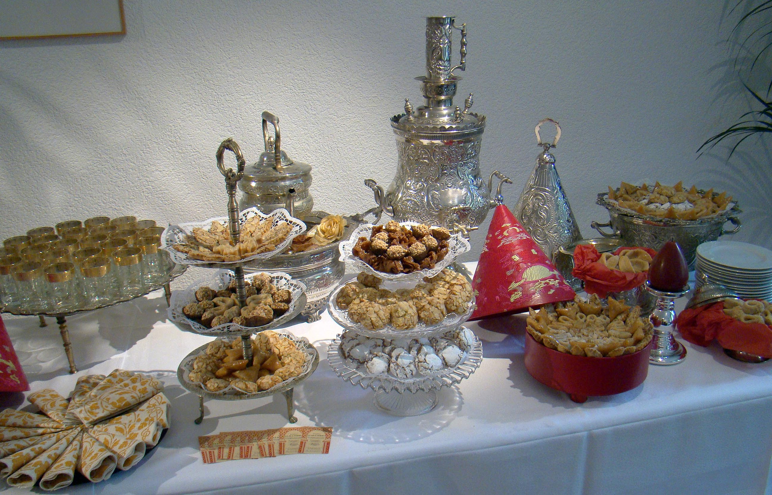 buffet de ptisseries - Traiteur Mariage Marocain