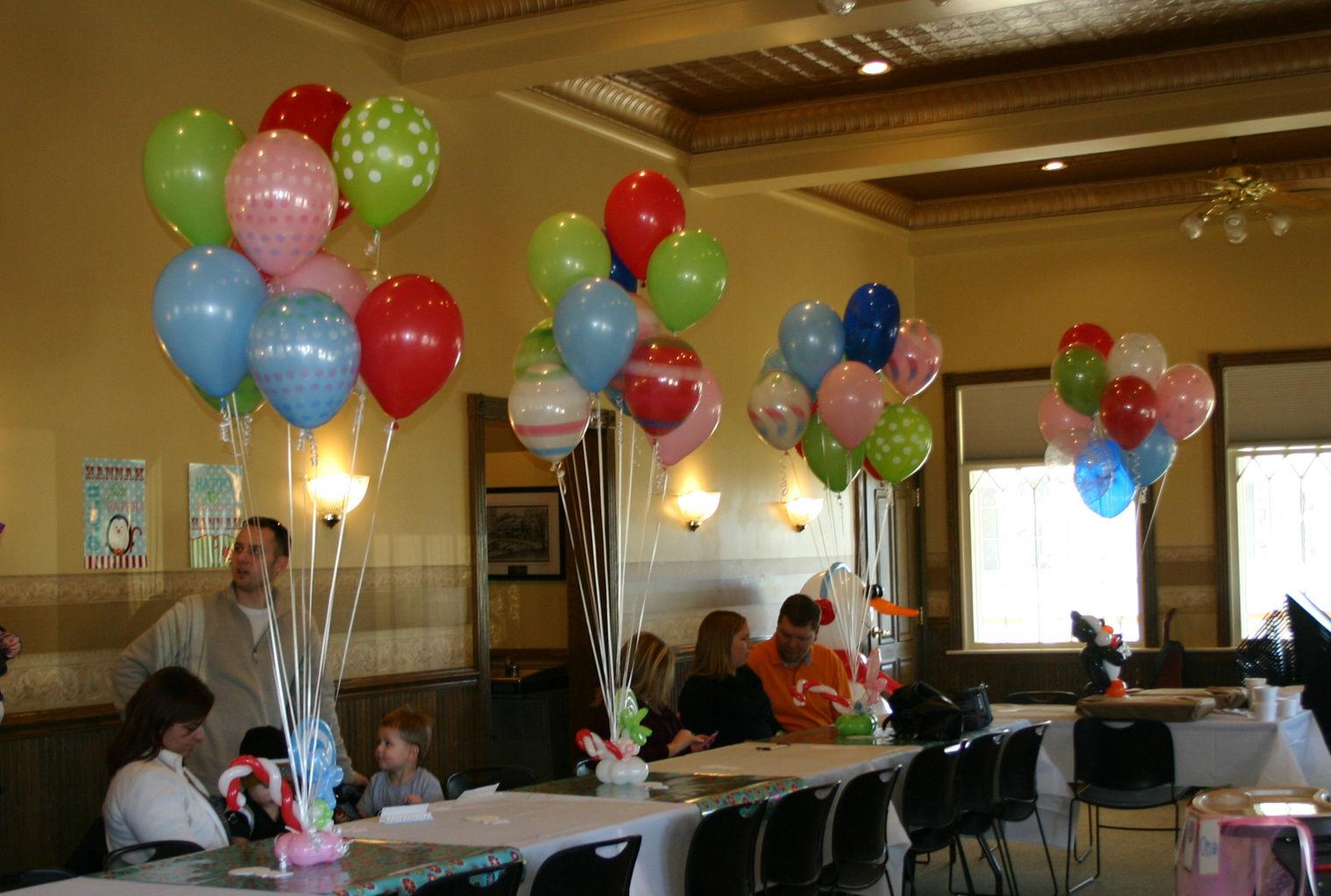 Balloongenuity ingenious balloon creativity central for Helium balloon centerpieces