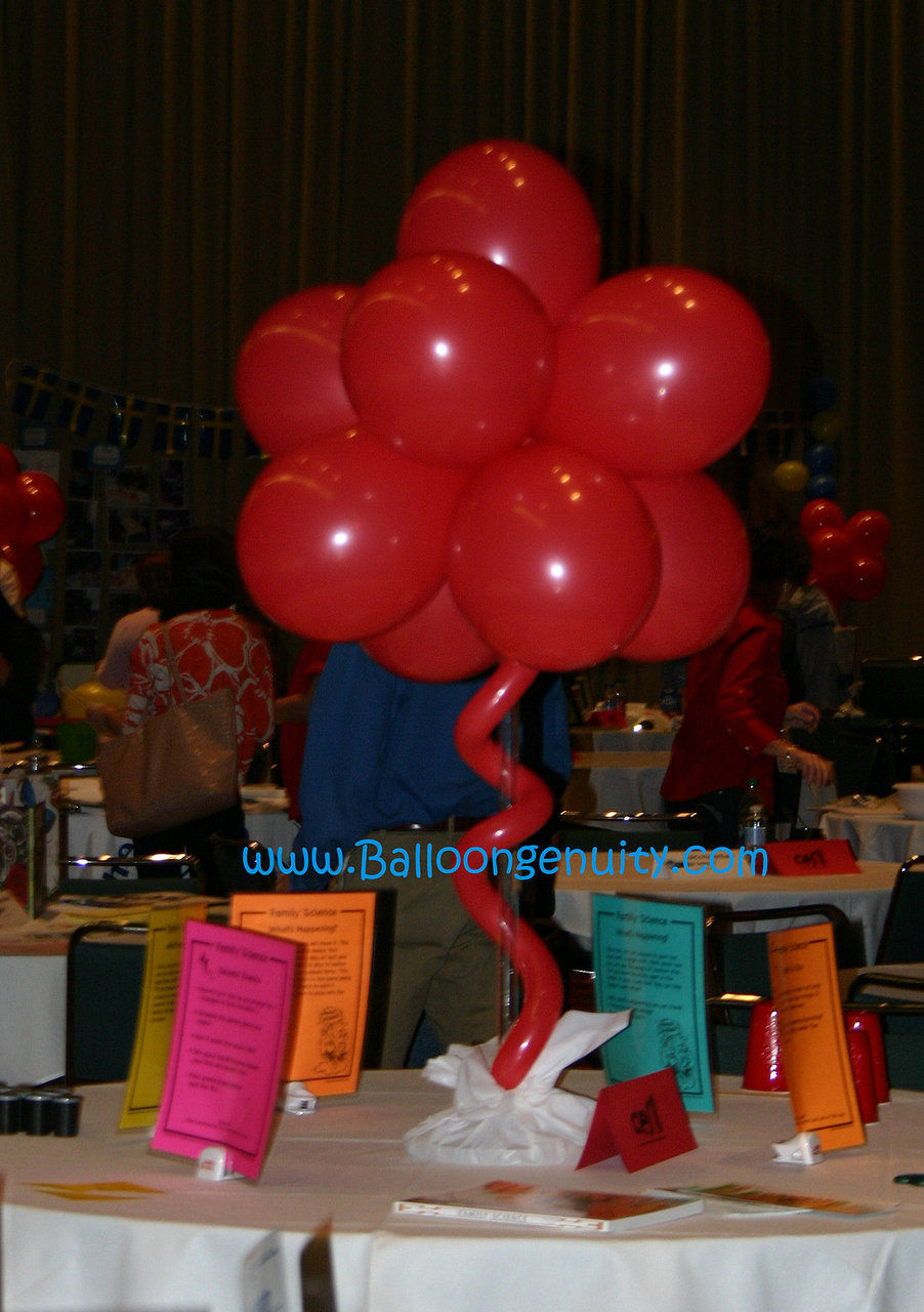 Balloongenuity ingenious balloon creativity central for Balloon decoration ideas no helium