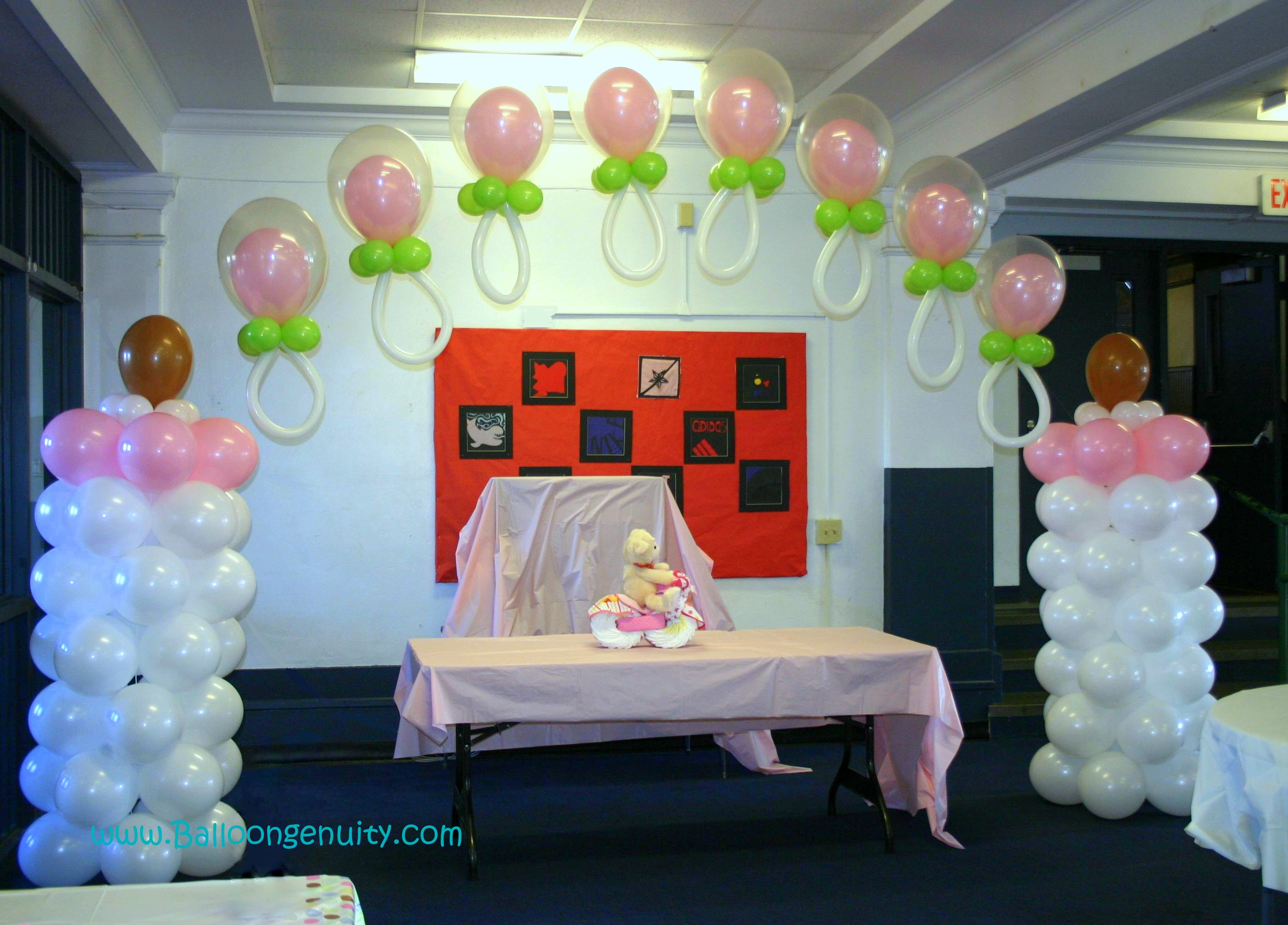 Balloongenuity ingenious balloon creativity the talented for Baby bottle balloon decoration