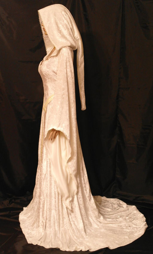 Medieval renaissance dress and garb by knights in white for Elven inspired wedding dresses