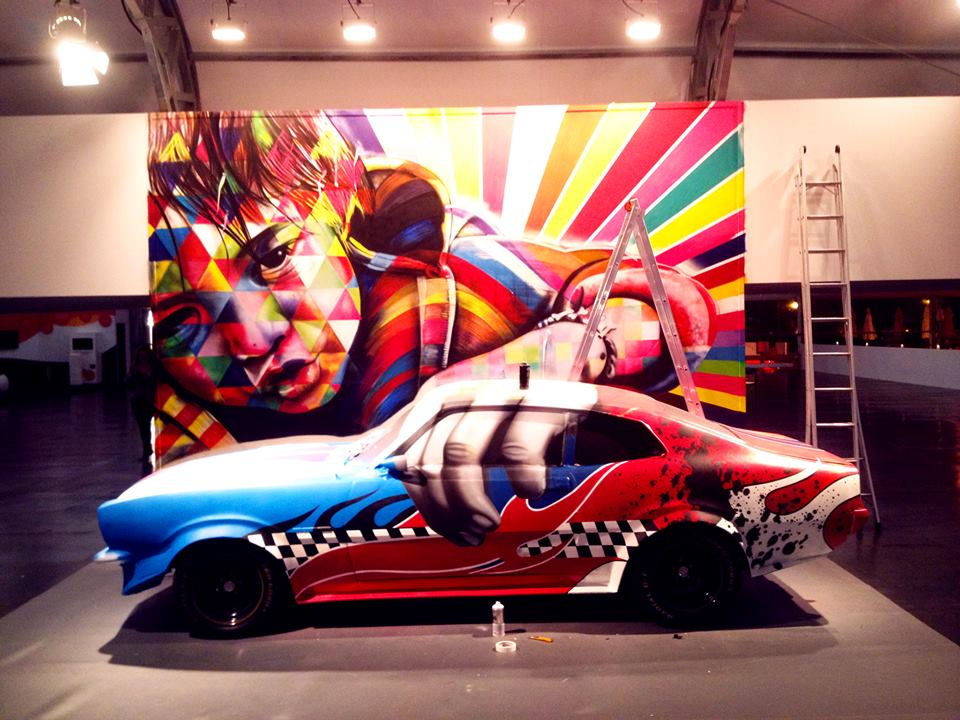 Car Street Race >> Street Art Bio | Street Artists Biographies | Eduardo Kobra Installation