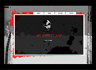 My Street Art Template - This one's for all the street artists out there. Urban grays with pops of color and extremely sophisticated Flash details make a perfect online home for all your video art, prints and illustrations.