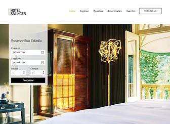 Hotel Moderno Template - Com uma galeria de slideshow em tela cheia na página inicial, este é o template perfeito para hoteleiros que desejam impressionar seus clientes. Basta personalizar as galerias adicionando imagens incríveis do seu hotel e os serviços oferecidos e personalizar o texto para combinar com o estilo do hotel. Gerencie suas reservas usando o aplicativo de reservas Wix e tenha os quartos do seu hotel reservados!