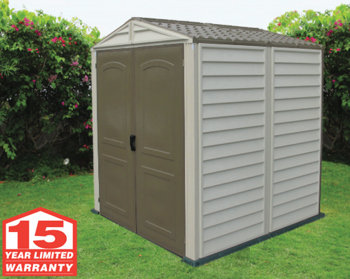 4x6 woodside vinyl storage shed duramax sheds for Garden shed 4x6
